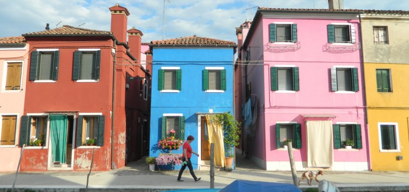 Colourful homes in Venice, Italy