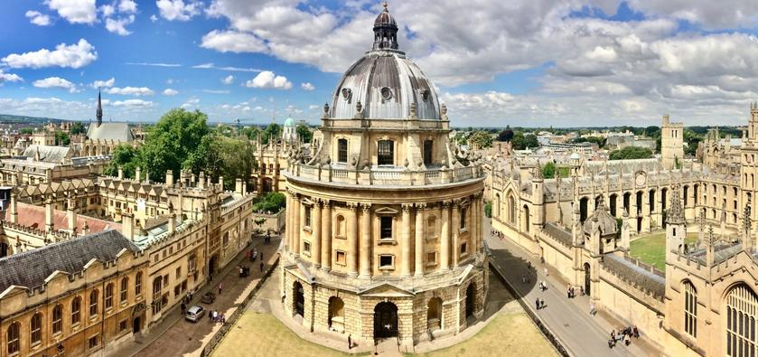 An aerial view of Oxford University