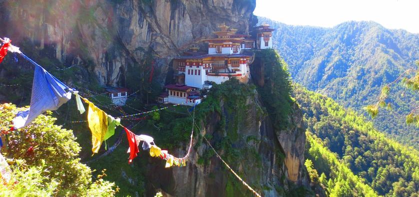 The Paro Taktsang Monastery (Tiger's Nest) in Bhutan