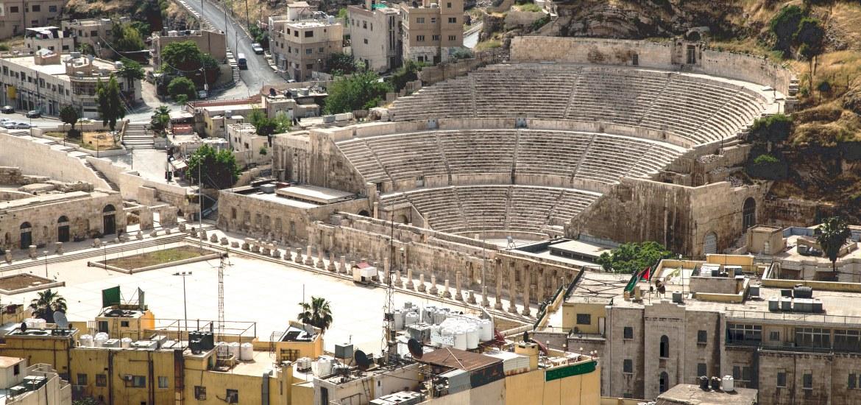 An ancient Roman ampitheater in Amman, Jordan