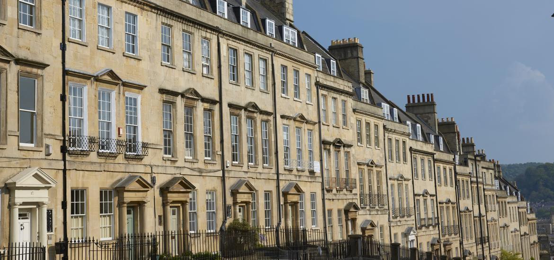 Terrace of Georgian Town Houses in Bath