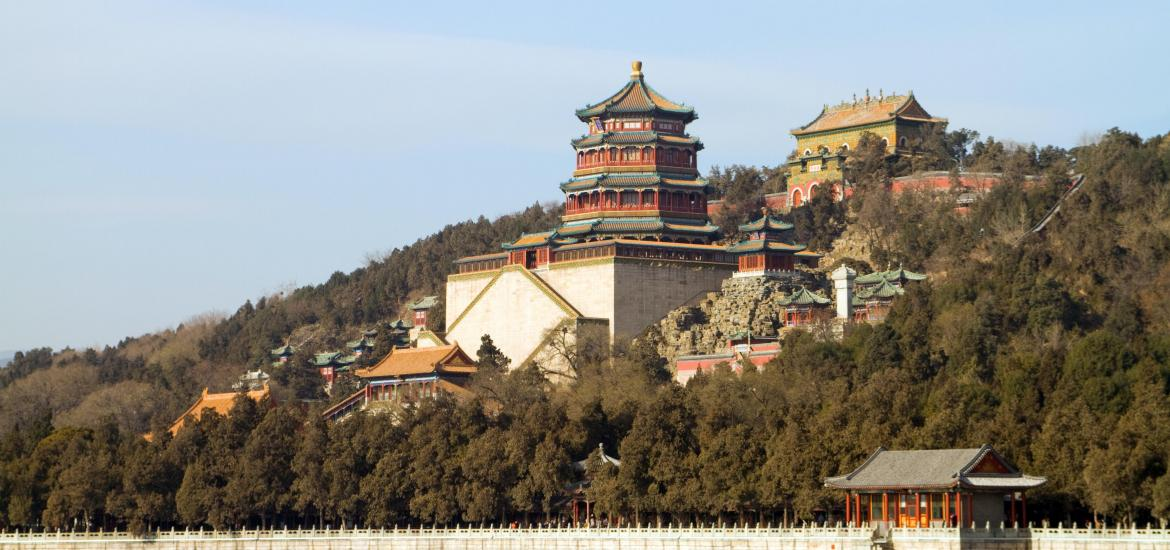 View of the Summer Palace in Bejing, China