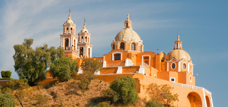 16th-century Mexican Catholic parish built atop the Tlachihualtepetl pyramid