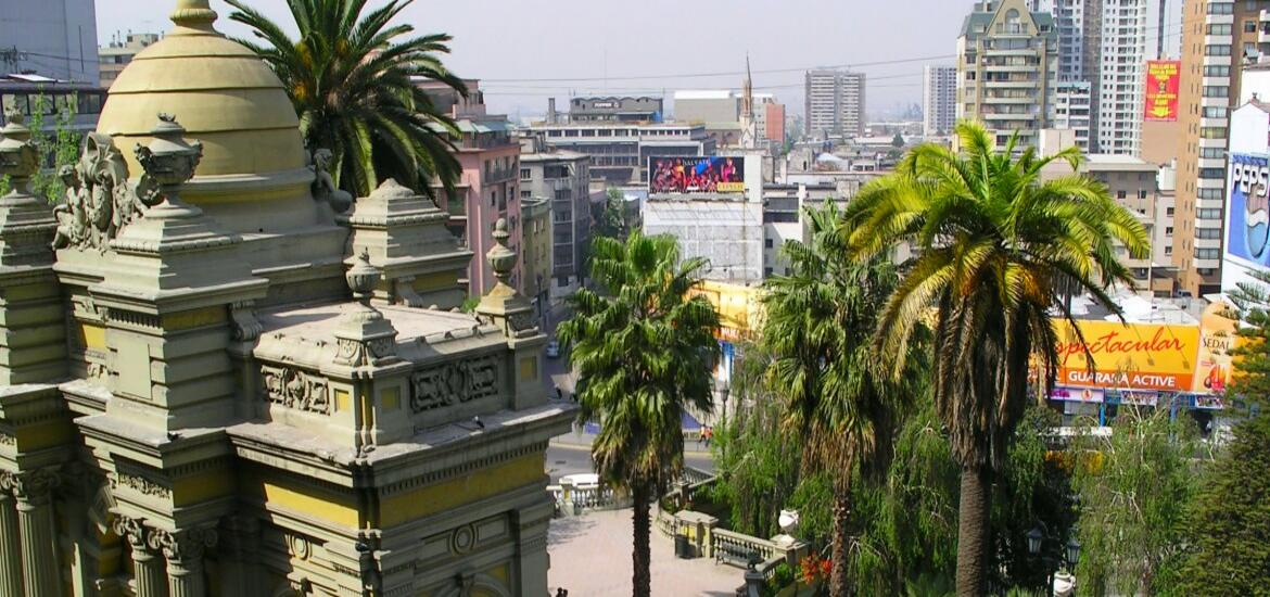 Historic structures in the sprawl of the city center