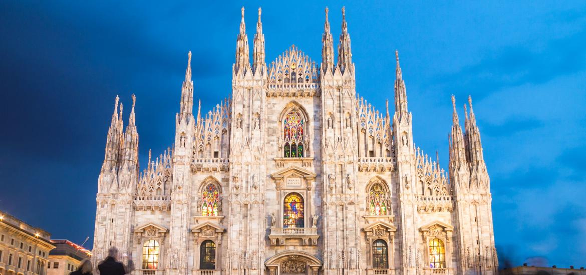 The gothic cathedral church of Milan