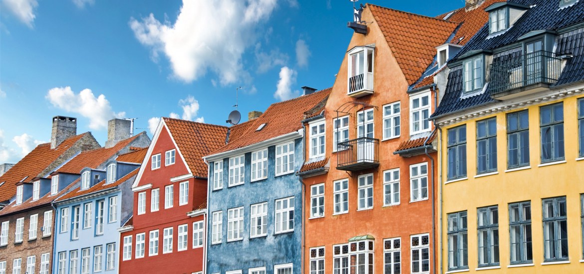 Colorful Danish houses near Nyhavn Canal