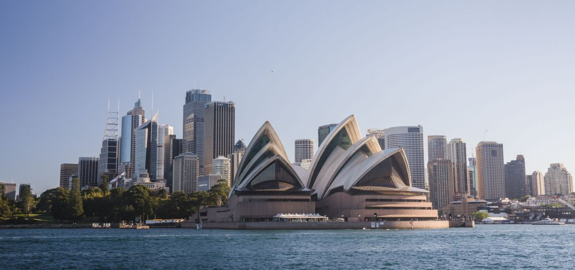 View of the Sydney Opera House from Sydney Harbour