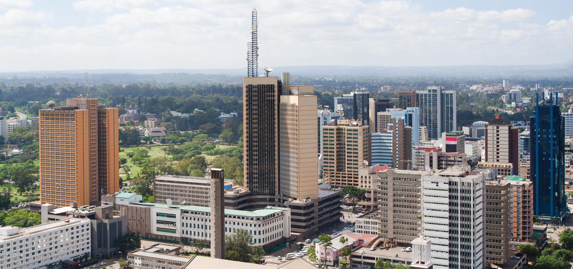 Aerial view of the capitol city of Kenya