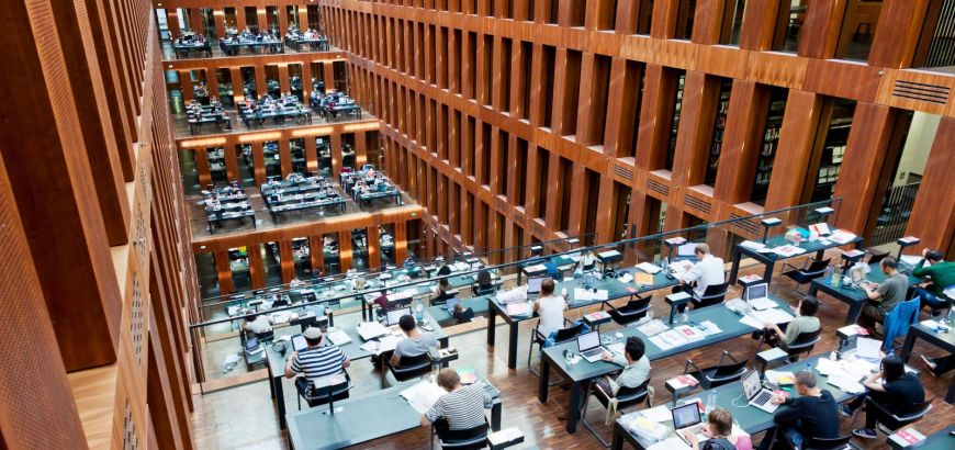 The library at Humboldt University in Berlin.