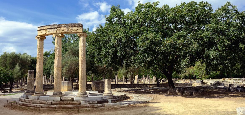 Roman ruins in Olympia, Greece