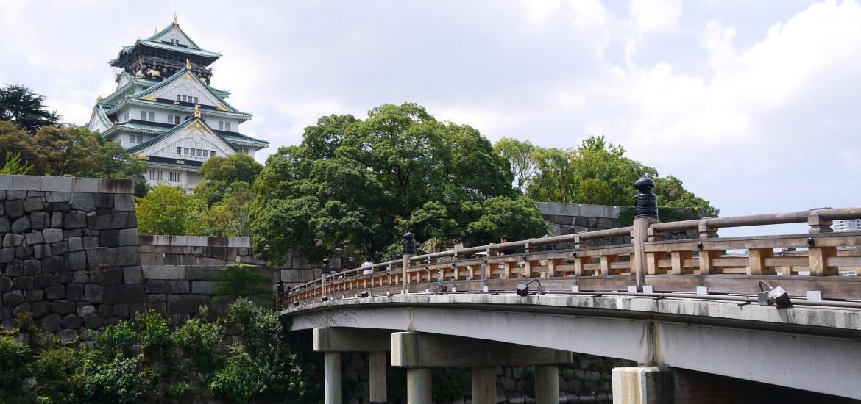 Bridge leading to the Osaka Castle in Osaka, Japan
