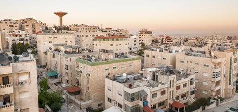 Evening view of Jordan's capital city, Amman
