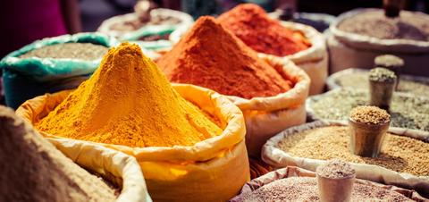 Spices at Local Market in India