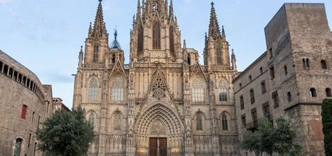 Cathedral in Barcelona's Gothic Quarter