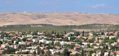 Aerial view of Beersheeba and Negev