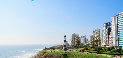 Miraflores Town landscape in Lima, Peru