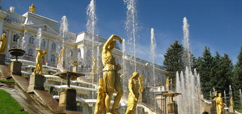 Grand Cascade in front of Peterhof Palace