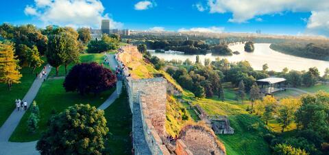 Panorama of New Belgrade from the Belgrade Fortress