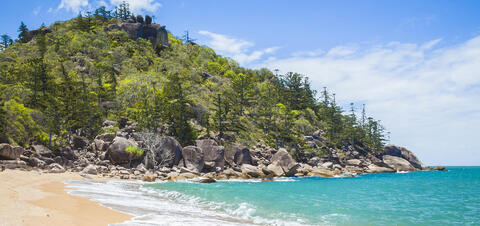 View of tropical beach in Townsville