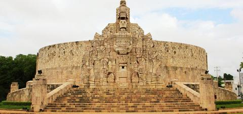 Monument showcases important parts of Mexico's history from founding Tenochtitlan to the mid-20th-century