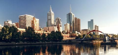View of Melbourne skyline