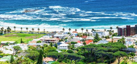 A beautiful coastal sea view of Cape Town, South Africa