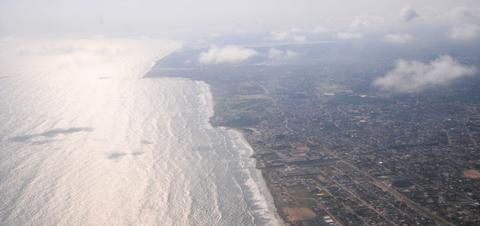 Aerial view of Accra