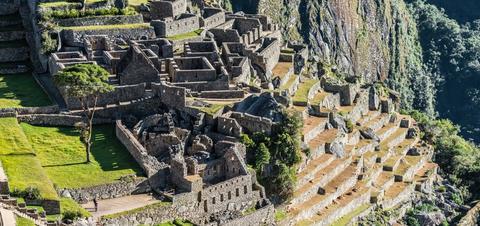 Incan ruins in the Peruvian Andes at Cuzco, Peru