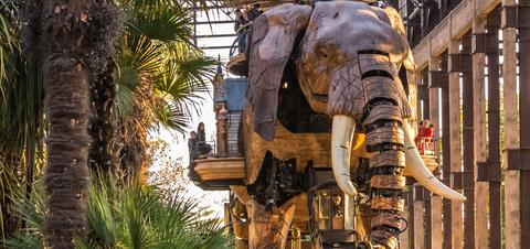 """Machines of Nantes"" Great Elephant tourist attraction"