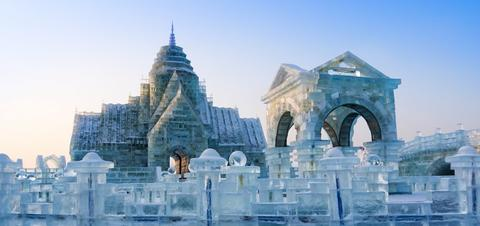 Ice sculptures in Harbin
