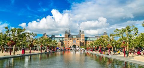 View of the Rijksmuseum Amsterdam Museum