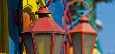 Colorful details in the neighhorhood of La Boca in Buenos Aires
