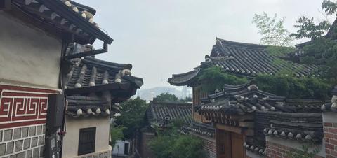 View of Namsan Tower from Bukchon Hanok