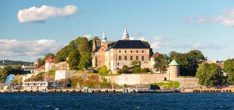 A view of Akershus Fortress in Oslo, Norway