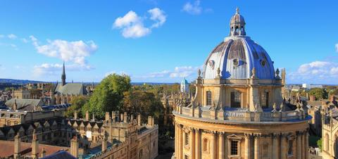 Oxford University City, Photographed from the top tower of St. Mary's Church, United Kingdom