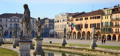 Statues in the Prato della Valle in Padova, Italy