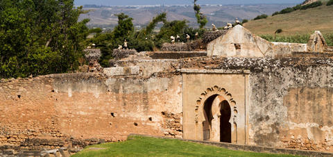Ancient Roman ruins in Chellah near Rabat