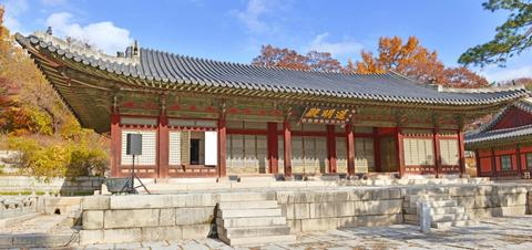 Traditional architecture in Changyeonggung Palace in Seoul, South Korea