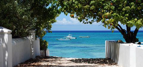 View of Cockburn Harbour, South Caicos Island, Turks and Caicos Islands