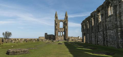 St Andrews Cathedral near Fife, Scotland