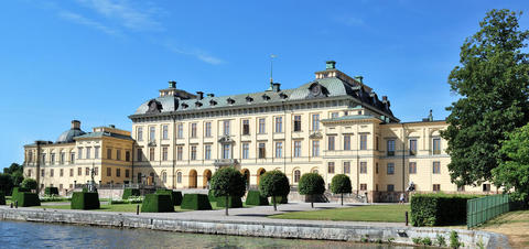View of the Drottingholm Palace in Stockholm
