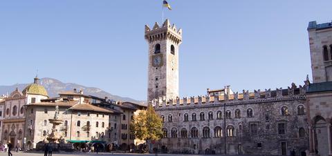 Plaza Duomo in Trento, Italy